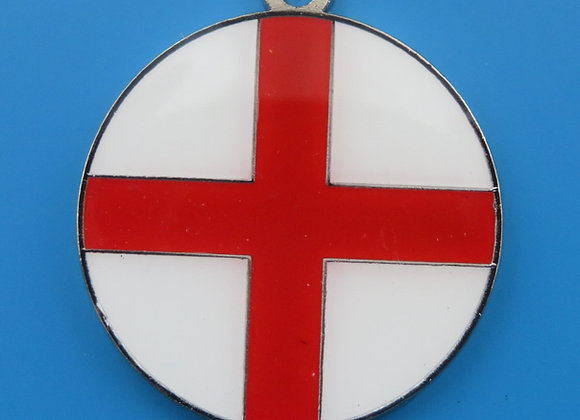 Round St. Georges Flag Dog Tag