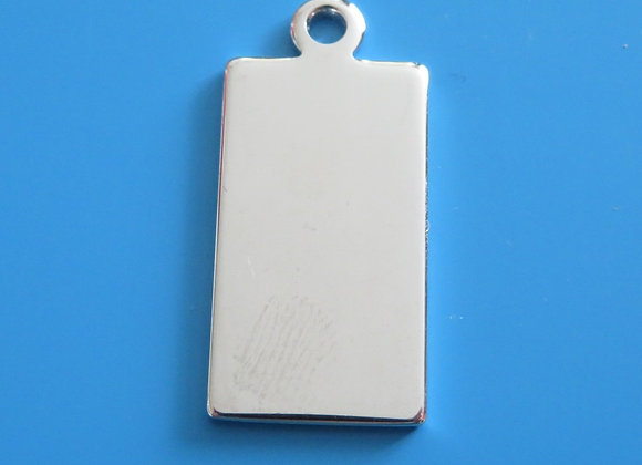 Luxury Small Rectangle Dog Tag