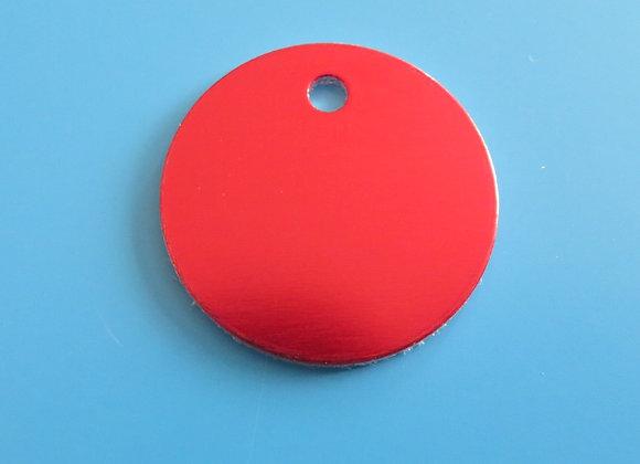 25mm Round Aluminium Disc Pet Tag