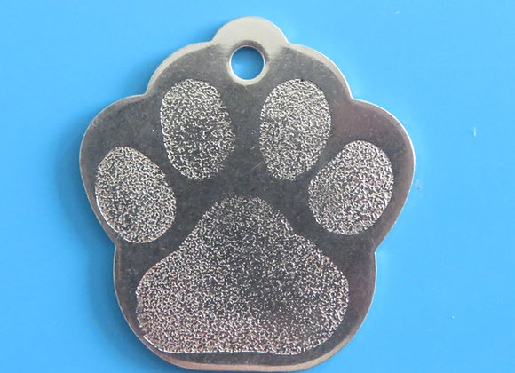 Paw Stainless Steel Dog Tag