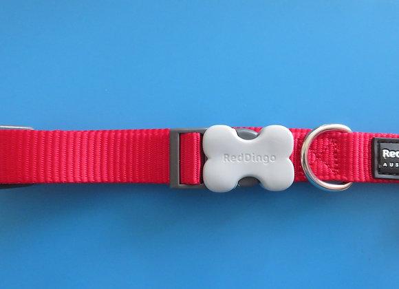Red Dingo Plain Classic Dog Collar - Medium