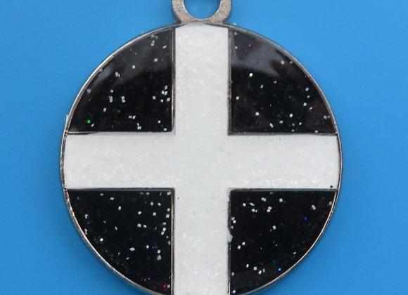 Glitter Cornish Flag Dog Tag