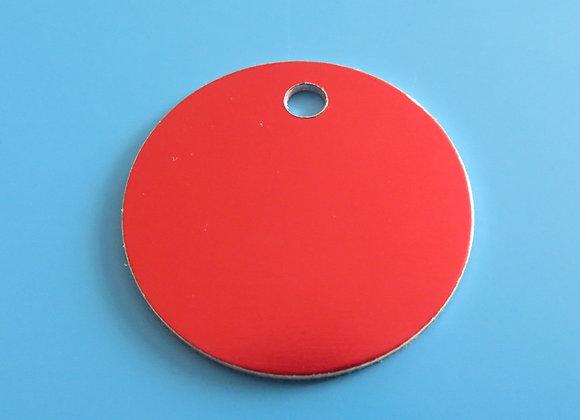 32mm Round Disc Aluminium Dog Tag