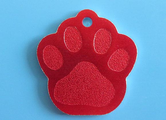 Small Paw Aluminium Dog Tag