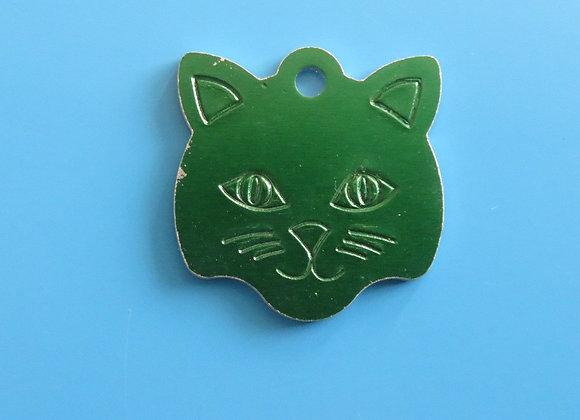 Cat Shaped Aluminium Pet Tag