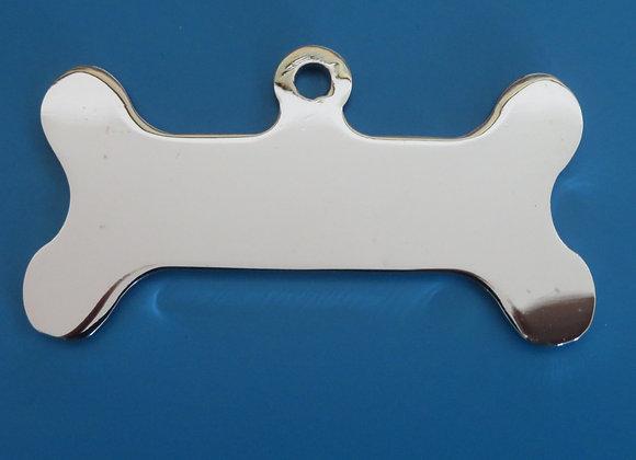 Large Bone Brass Dog Tag