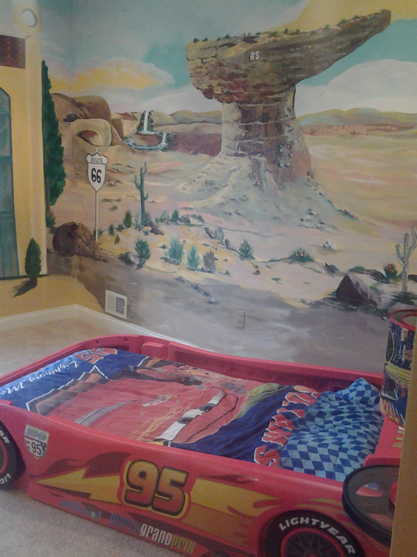 "CUSTOM ""CARS"" BEDROOM MURAL"