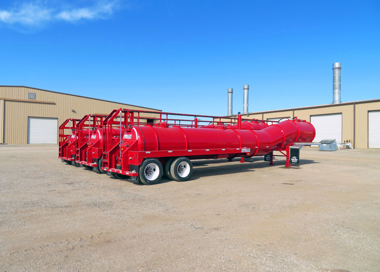 Tiger Manufacturing Minimizer Low Center Of Gravity Vacuum Transport Trailer Tank