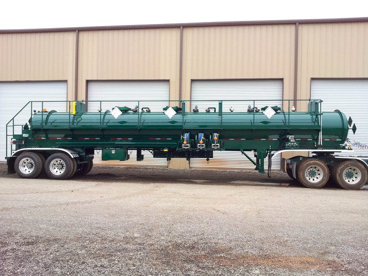 Tiger Manufacturing DOT 412 Three Compartment Transport Trailer