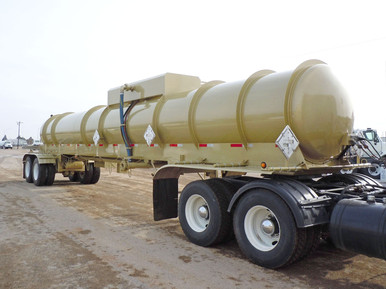 Tiger Manufacturing Two Compartment Acid Transport Trailer