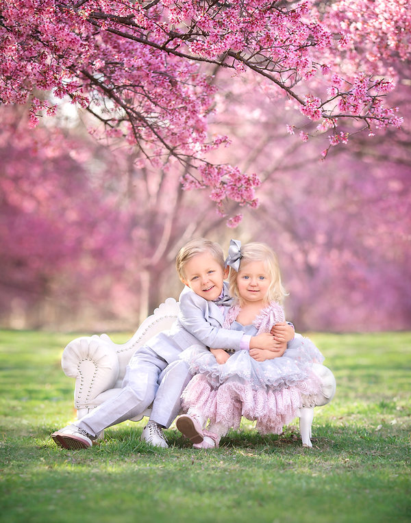 Cherry Blossoms Child Portrait Easter Si