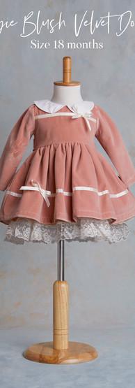 Size 18 months Aggie Blush Velvet Dolly.