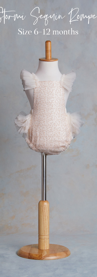 Size 6-12 months Stormi Blush Sequins Ro