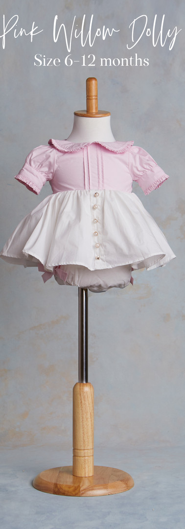 Size 6-12 months Pink Willow Dolly Dress