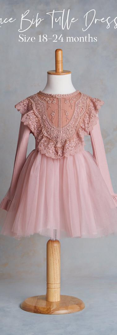 Size 18-24 months Lace Bib Tulle Dress.j