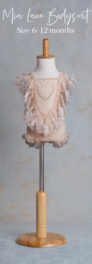 Size 6-12 months Mia Joy Lace Bodysuit.j