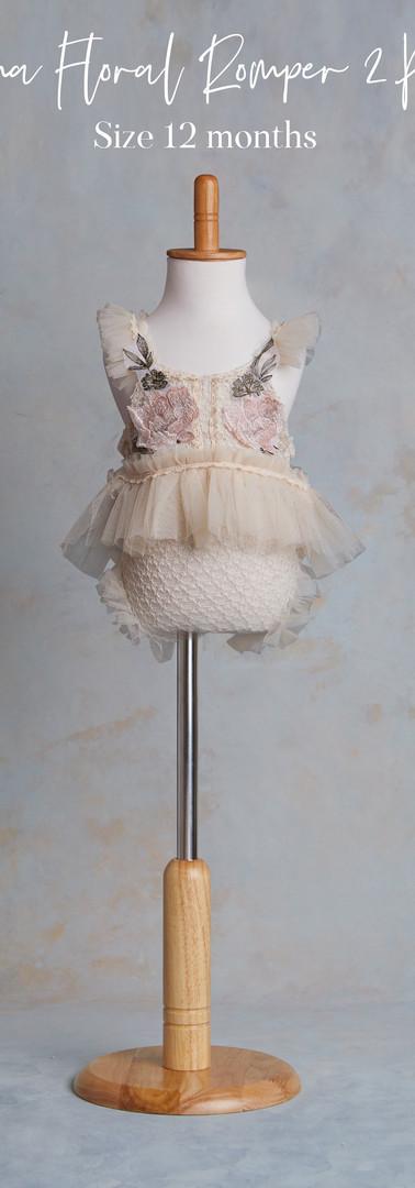 Size 12 months Emma Floral 2 piece Rompe