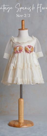 Size 2-3 Vintage Spanish Floral Dress.jp