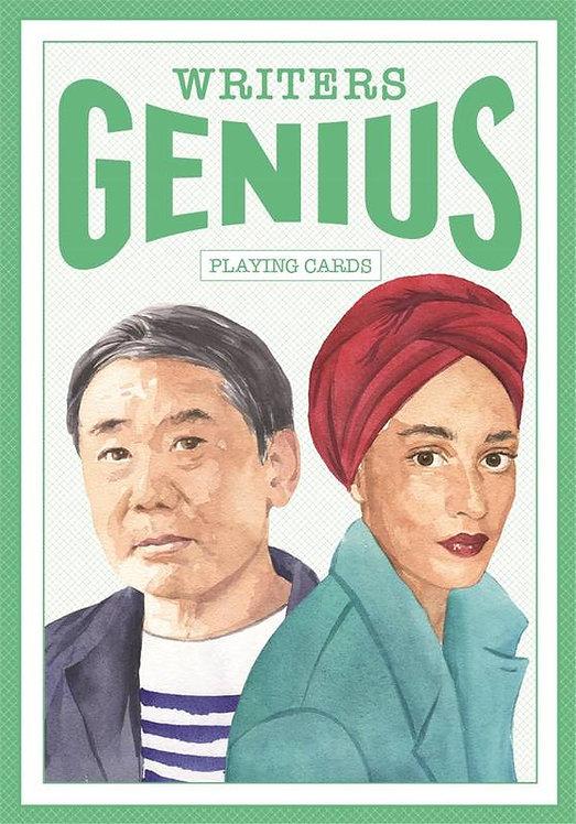 WRITERS GENIUS PLAYING CARDS /ANGLAIS