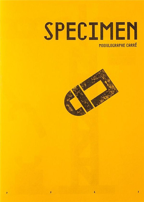 SPECIMEN (MODULOGRAPHE CARRE)
