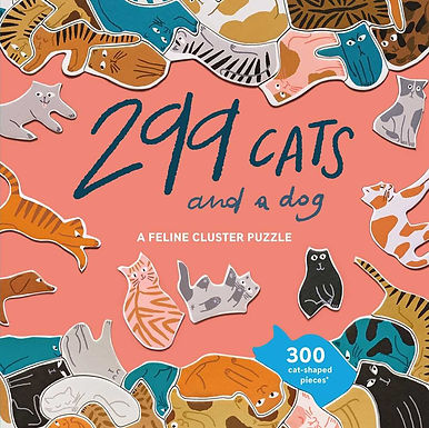 299 CATS (AND A DOG) A FELINE CLUSTER PUZZLE /ANGLAIS