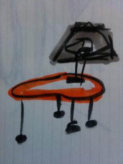 Nightable lamp sketch