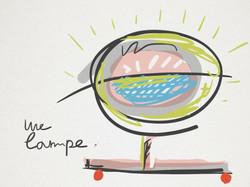 Une lampe sketch
