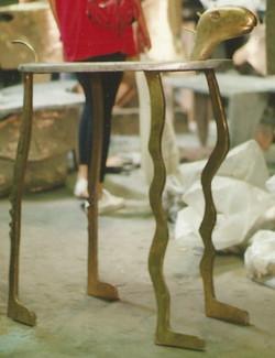 Turtle head table