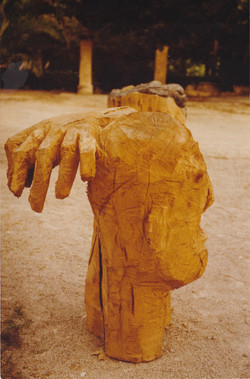 Man and hand