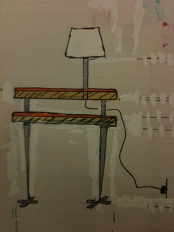 Lamp nightable sketch