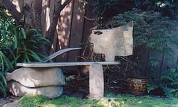 Woman bench