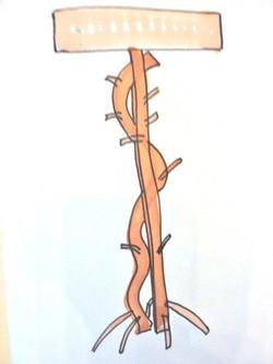 Branch lamp sketch
