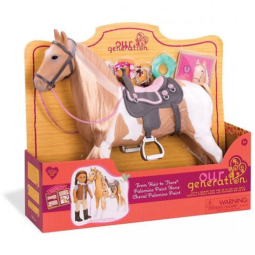 סוס פלומינו לעיצובי שיער לבובה