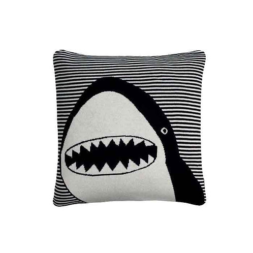 כרית כריש שחור לבן
