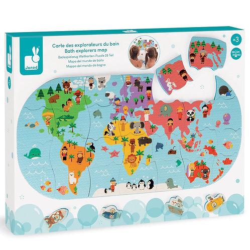 פאזל מפת העולם 28 חלקים