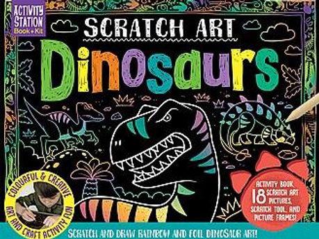 ערכת יצירה בגירוד בקופסא - דינוזאורים