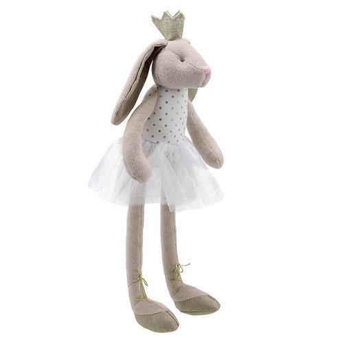 בובת ארנב רכה עם כתר