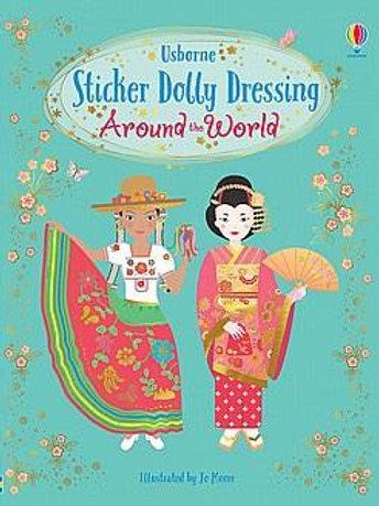 חוברת 250 מדבקות מלבישים - מסביב לעולם