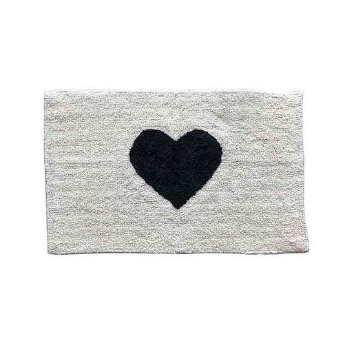 שטיח אמבטיה לב שחור