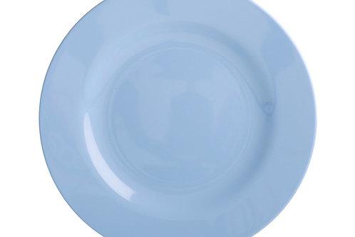 צלחת מלמין מנה ראשונה כחול בהיר