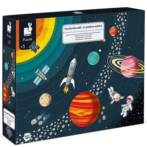 פאזל חינוכי – מערכת השמש 100 חלקים