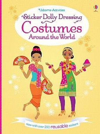 חוברת 250 מדבקות רב פעמיות מלבישים - תלבושות מסביב לעולם