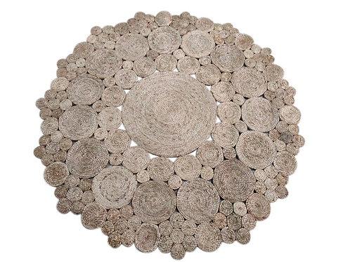שטיח חבל עיגולים טבעי