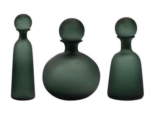 בקבוק זכוכית גוון ירוק