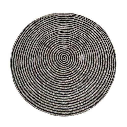 שטיח חבל טבעי מיקס שחור