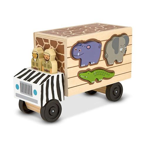 משאית התאמת צורות - חיות
