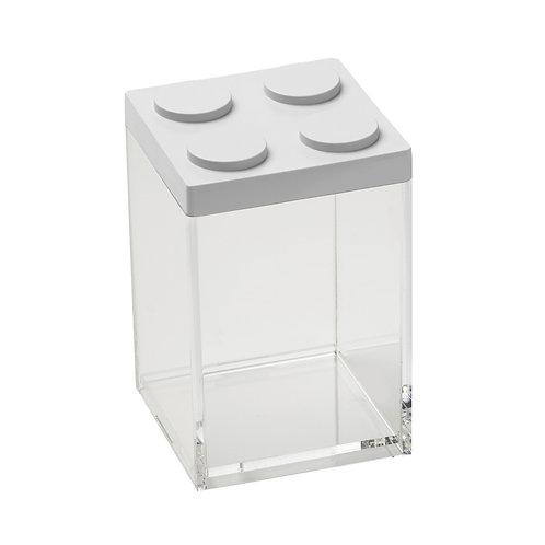 קופסת איחסון מודולרית לגו - לבן
