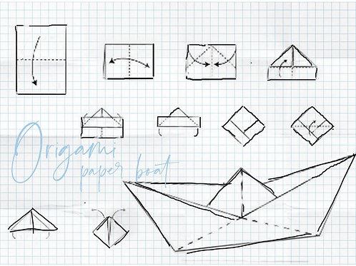 פלייסמט סירת נייר