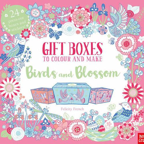 ספר צביעה קופסאות מתנה - ציפורים ופרחים