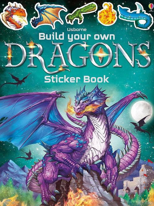 חוברת מדבקות גדולה - מדביקים דרקונים